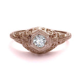 Replica art deco engagement ring #L3147 - Leigh Jay & Co.