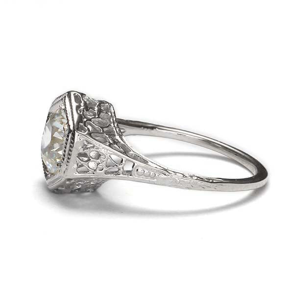 Replica art deco engagement ring #L3163 - Leigh Jay & Co.
