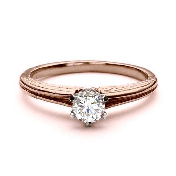 Replica Edwardian engagement ring #L3169 - Leigh Jay & Co.