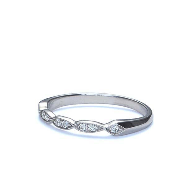 Replica 1930s Diamond Wedding Band #L3197P PLAT - Leigh Jay & Co.