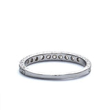 14k White Gold Diamond Wedding Band #L3230WBR18 - Leigh Jay & Co.
