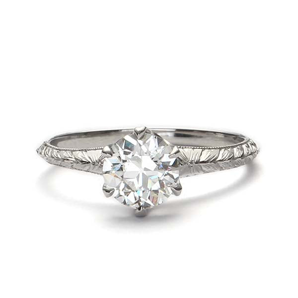 Replica Edwardian engagement ring #L3233HE - Leigh Jay & Co.