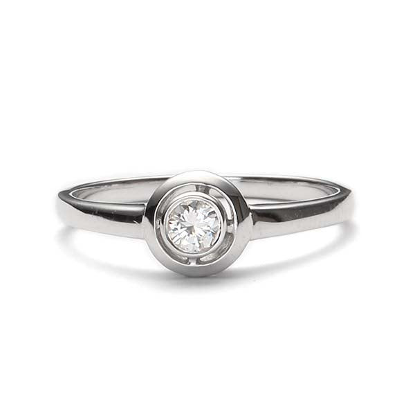 Replica Mid-Century engagement ring #L3235 - Leigh Jay & Co.