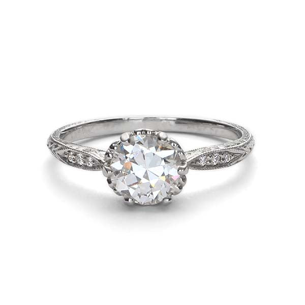 Replica Edwardian engagement ring #L3237 - Leigh Jay & Co.