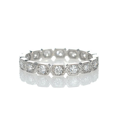 Replica Art Deco Eternity Band #L3259WB14 - Leigh Jay & Co.