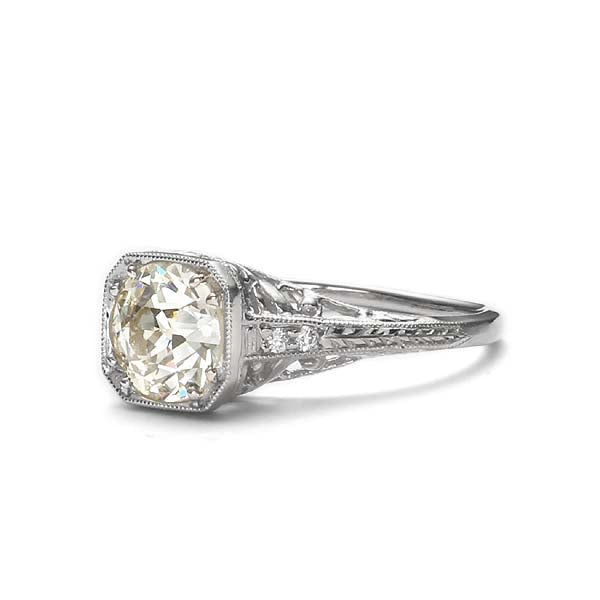 Replica art deco engagement ring #L3276 - Leigh Jay & Co.