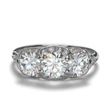 Replica Edwardian engagement ring #L3289 - Leigh Jay & Co.