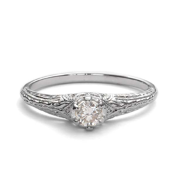Replica art deco engagement ring #L3293 - Leigh Jay & Co.