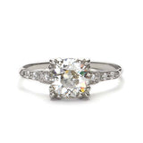 Replica 1940s engagement ring #L3297 - Leigh Jay & Co.