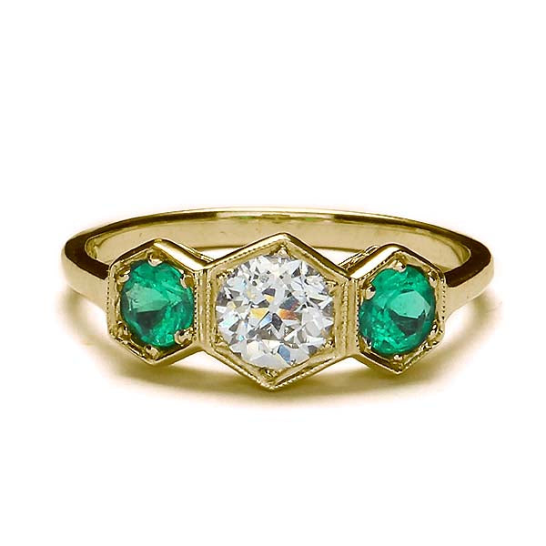 Replica Edwardian engagement ring #L3305 - Leigh Jay & Co.