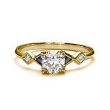 Replica art deco engagement ring #L3318S - Leigh Jay & Co.