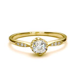 Replica Edwardian engagement ring #L3323 - Leigh Jay & Co.