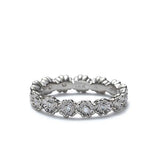 Replica Art Deco Floral Band #L3345-14K-1