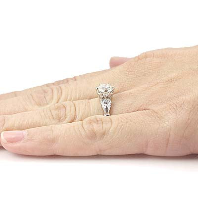 Replica Edwardian engagement ring #L3349 - Leigh Jay & Co.