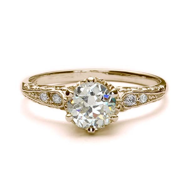 Replica Edwardian engagement ring #L3351 - Leigh Jay & Co.