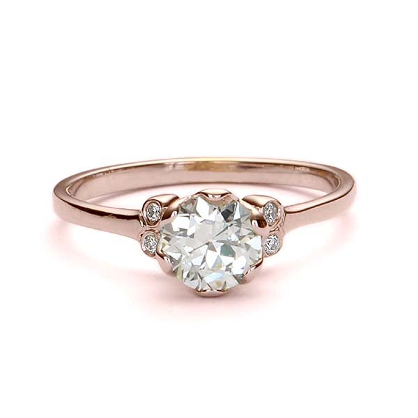 Replica Edwardian engagement ring #L3352 - Leigh Jay & Co.
