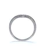 "Contoured ""V"" Wedding Band #L3354WBY14 - Leigh Jay & Co."