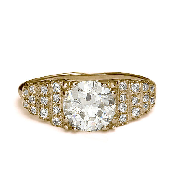 Replica art deco engagement ring #L3358 - Leigh Jay & Co.