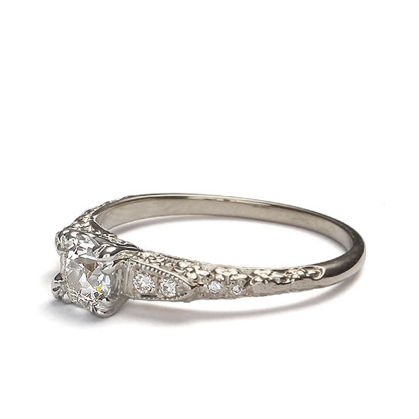 Replica floral art deco engagement ring #L3370 - Leigh Jay & Co.