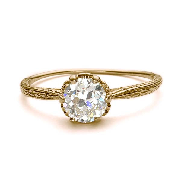Replica Edwardian engagement ring #L3376 - Leigh Jay & Co.