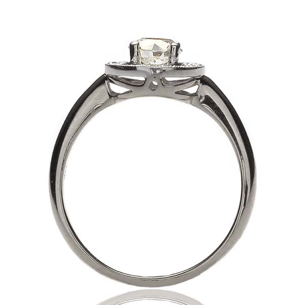 Replica art deco halo engagement ring #L3389 - Leigh Jay & Co.