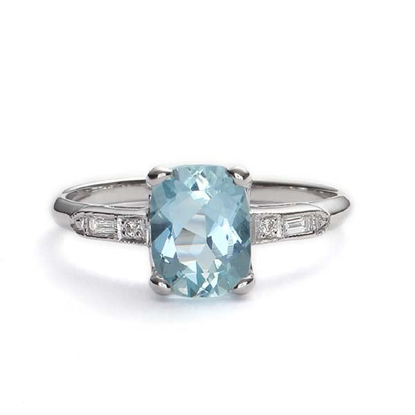 Replica art deco engagement ring #L3396 - Leigh Jay & Co.