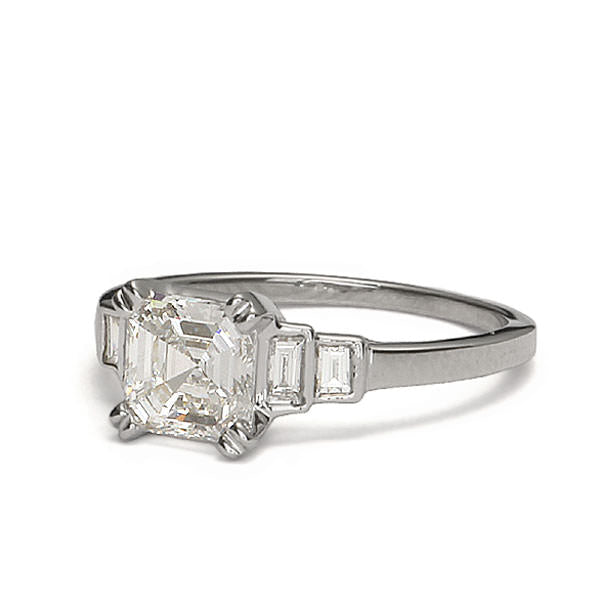 Replica art deco engagement ring #L3402 - Leigh Jay & Co.