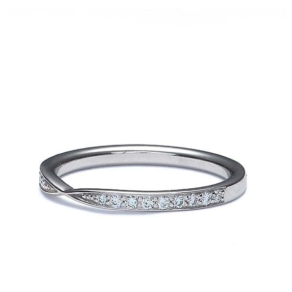 14k White Gold Diamond Wedding Band #L3405Y14