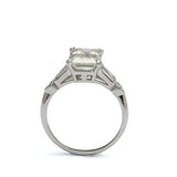 Platinum Engagement ring #L3443 PT - Leigh Jay & Co.