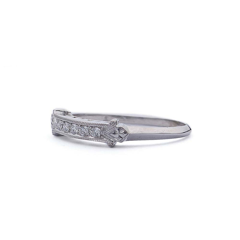 Replica Art Deco Wedding band #L3449 14KT - Leigh Jay & Co.