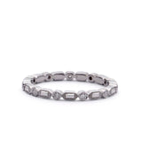 Round and Baguette Eternity Wedding Band #L3460 14kt - Leigh Jay & Co.