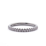 French Pave Diamond Band Ring #LE4001 - Leigh Jay & Co.