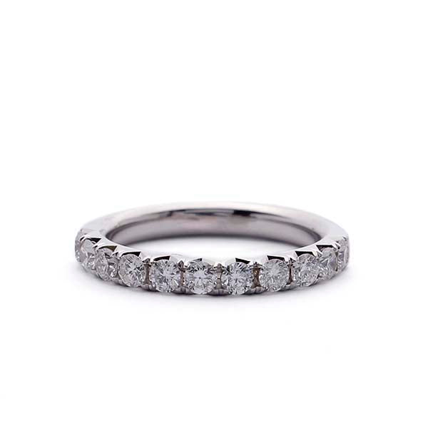 French Pave Diamond Wedding Band #LE4029 - Leigh Jay & Co.