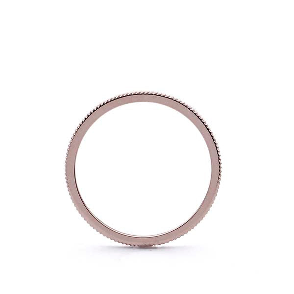 Narrow grooved wedding band #LE4032-R14