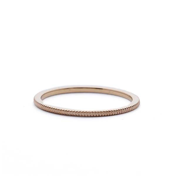 Narrow grooved wedding band #LE4032-Y14 - Leigh Jay & Co.