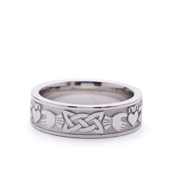 Men's Claddagh Wedding Band #MB-CL5219 - Leigh Jay & Co.
