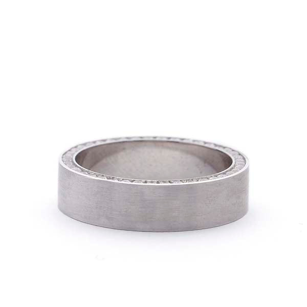 Men's Wedding band with diamond sides #MB-DW9318 - Leigh Jay & Co.
