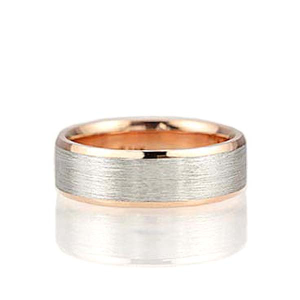 Two Tone Gents wedding band #NT16648-7 - Leigh Jay & Co.