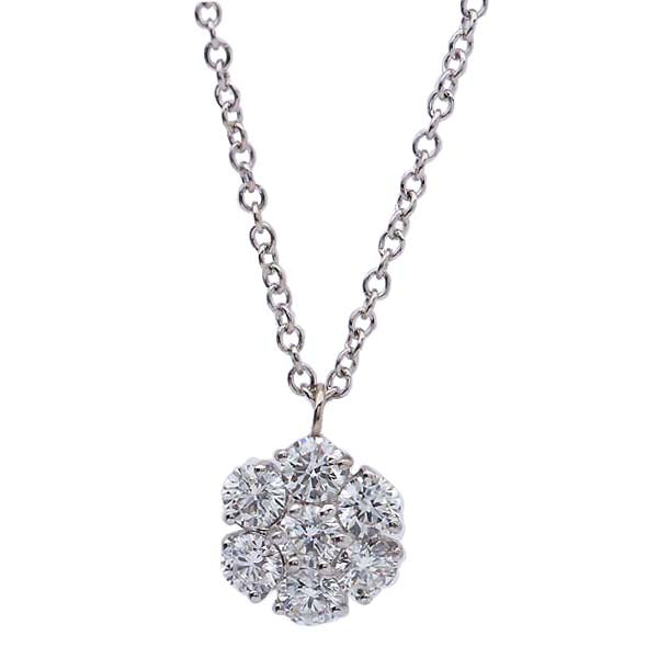Vintage inspired Diamond Flower Pendant #PC54-01 - Leigh Jay & Co.