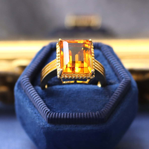 Contemporary Estate Citrine Ring #VR210311-10