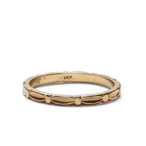 Vintage 14kk Yellow Gold Wedding band. #R140811-11