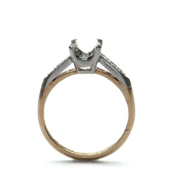 Midcentury Engagement ring. #R180730-12 - Leigh Jay & Co.