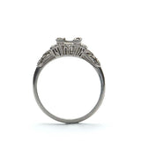 Plat Art Deco Engagement ring #R180813-1 - Leigh Jay & Co.