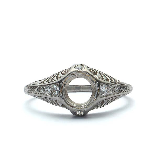 Art Deco Engagement ring #R180813-7 - Leigh Jay & Co.