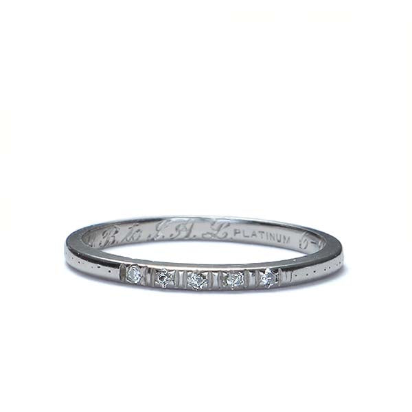 Vintage Wedding Band #R192-16 - Leigh Jay & Co.