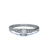 Vintage Engagement Ring #R295 - Leigh Jay & Co.