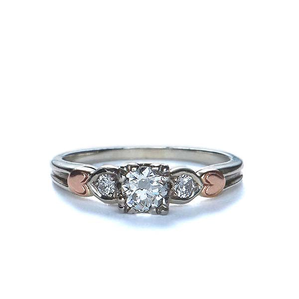 Circa 1940s engagement ring #R328-08A - Leigh Jay & Co.