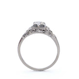 Vintage Engagement Ring with stepped shoulders. #R332-23 - Leigh Jay & Co.