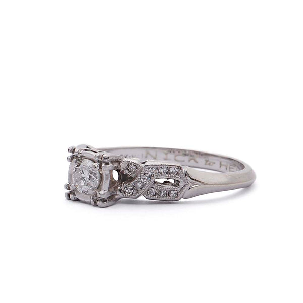 Circa 1950s Engagement Ring #R332-25A - Leigh Jay & Co.