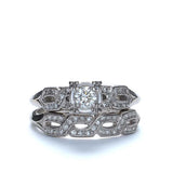 Vintage Wedding set circa 1953 #R332-25 - Leigh Jay & Co.